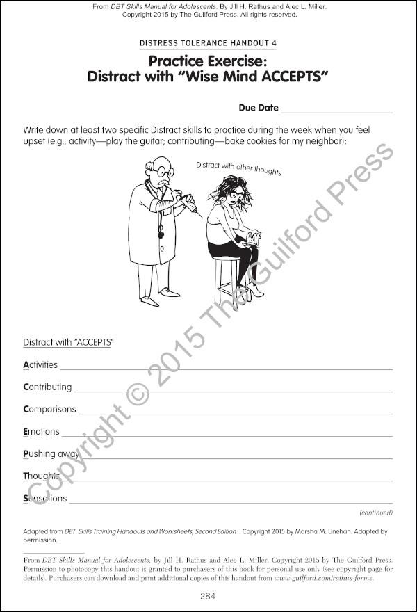 dbt worksheets wise mind