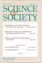 Science & Society - Edited by David Laibman