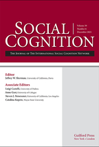 Social Cognition - Edited by Jeffrey W. Sherman, PhDUniversity of California at Davis