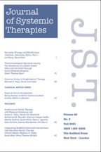 Journal of Systemic Therapies - Edited by Jim Duvall, MEd, RSWJST Institute, Galveston Island, TX