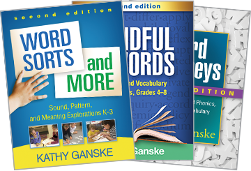 Word Sorts and More: Second Edition: Sound, Pattern, and Meaning Explorations K-3, Word Journeys: Second Edition: Assessment-Guided Phonics, Spelling, and Vocabulary Instruction, Mindful of Words: Second Edition: Spelling and Vocabulary Explorations, Grades 4-8