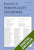 Digital Archive: Journal of Personality Disorders -