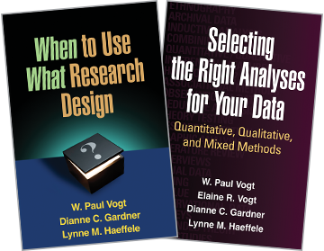 When to Use What Research Design, Selecting the Right Analyses for Your Data: Quantitative, Qualitative, and Mixed Methods