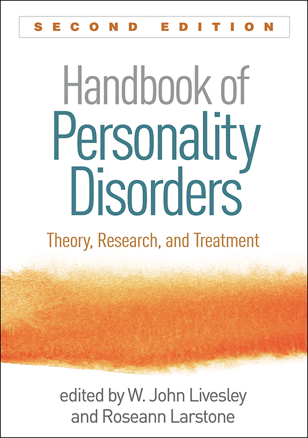 Handbook of personality disorders second edition theory research cover graphic fandeluxe Gallery