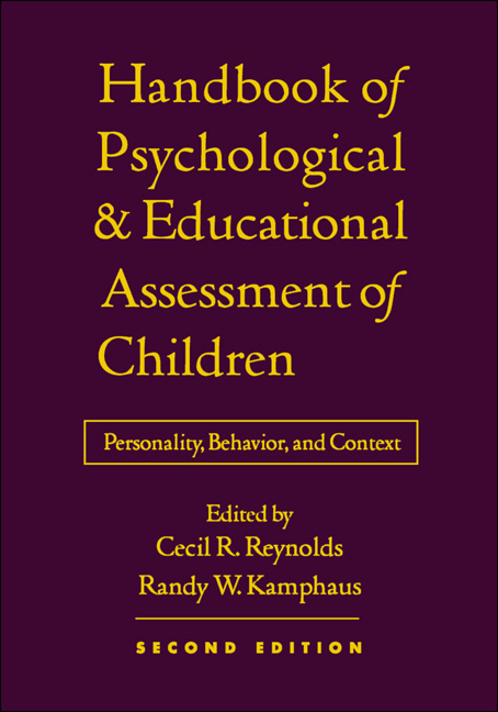 Handbook of psychological and educational assessment of children print x fandeluxe Choice Image